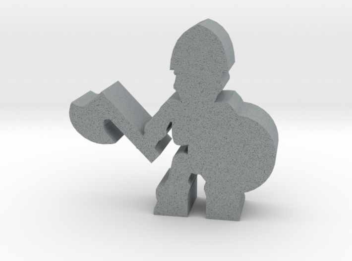 Game Piece, Skeleton Soldier, Axe 3d printed