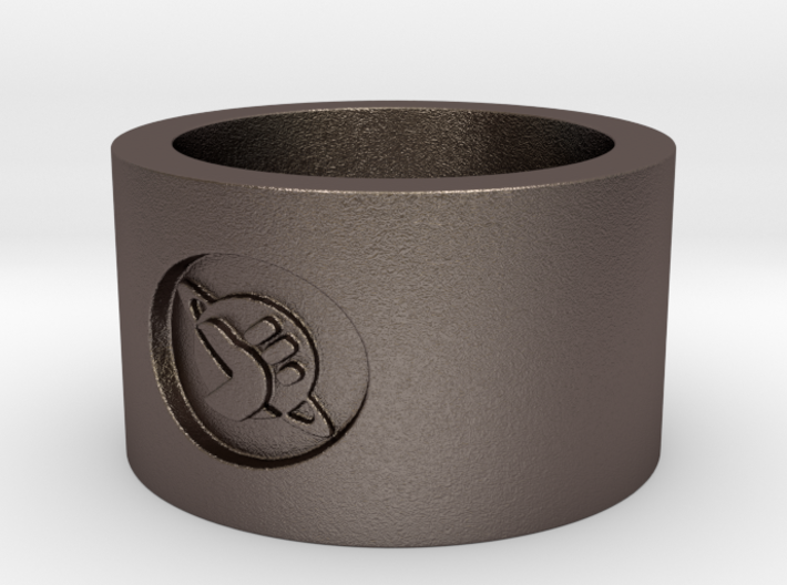 Homing Thumb Ring 3d printed
