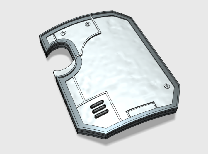 5x Blank - Terminator Wall Shields w/Hand 3d printed