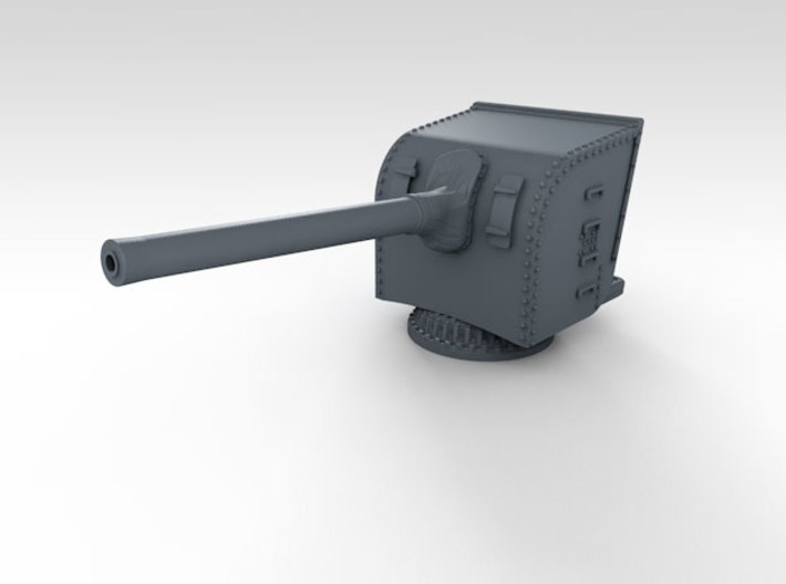 "1/700 HMS Hood 5.5"" MKI Guns Ports Open x12 3d printed 3d render showing product detail"