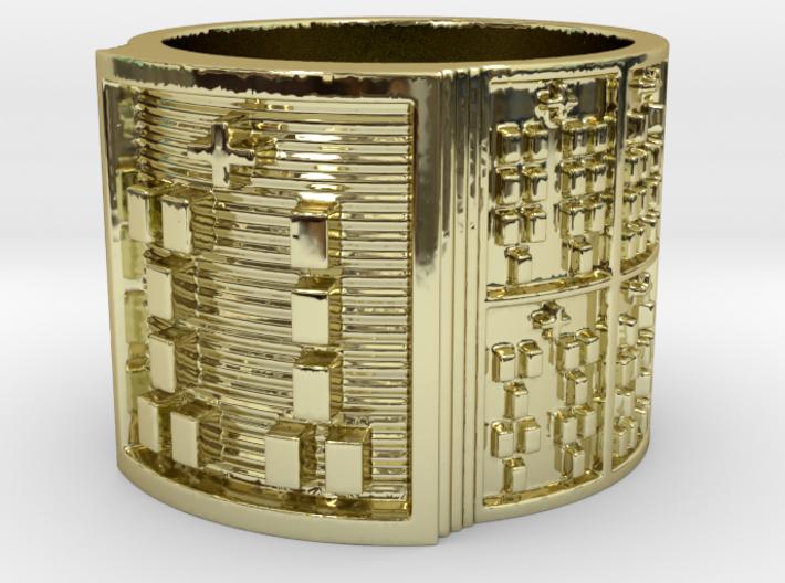 OGUNDAWORI Ring Size 13.5 3d printed
