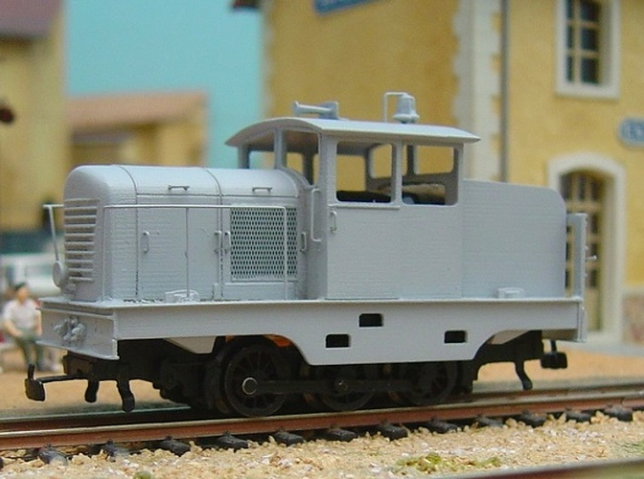 Locotracteur Doubs 102 HOm/HOe 1:87 3d printed undercoated model with added details