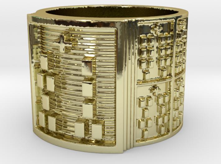 OGUNDASHE Ring Size 13.5 3d printed