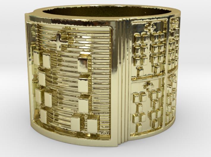 OGUNDAFUN Ring Size 14 3d printed