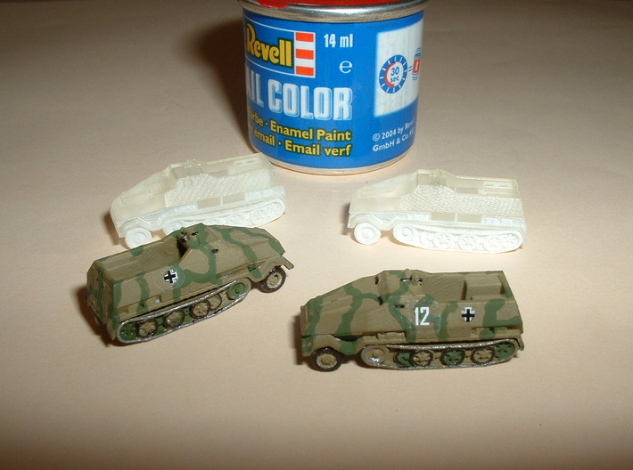 SdKfz. 8 12to Prime Mover armoured 1/285 6mm 3d printed
