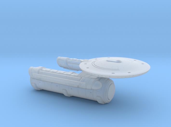 Terran Aristotle Class Tug/Transport - 1:7000 3d printed