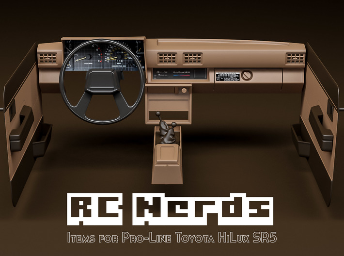 RCN022 Middle console car panel for Toyota HiLux S 3d printed