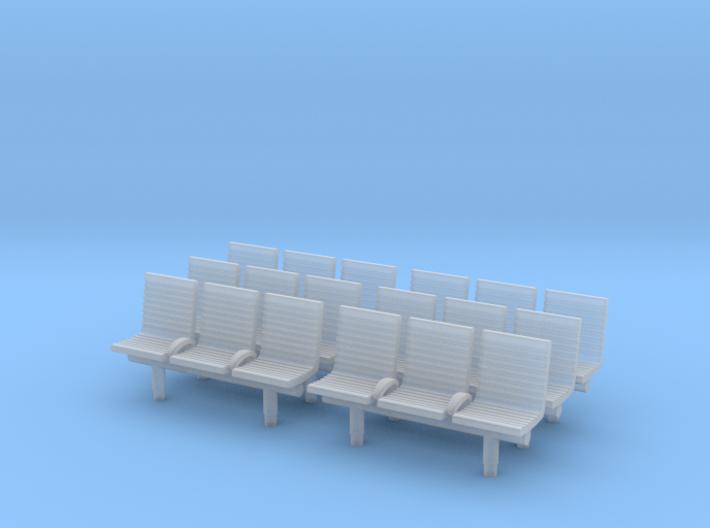 TJ-H04552x6 - bancs de quai 3 places avec dossier 3d printed
