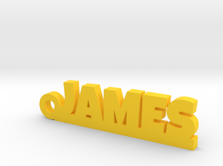 JAMES Keychain Lucky 3d printed