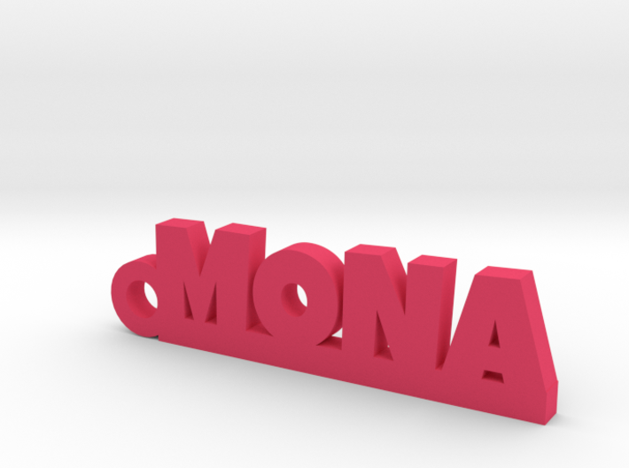 MONA Keychain Lucky 3d printed
