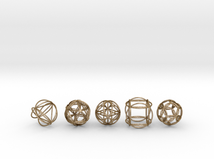Platonic Spheres w/ nested Platonic Solids 3d printed