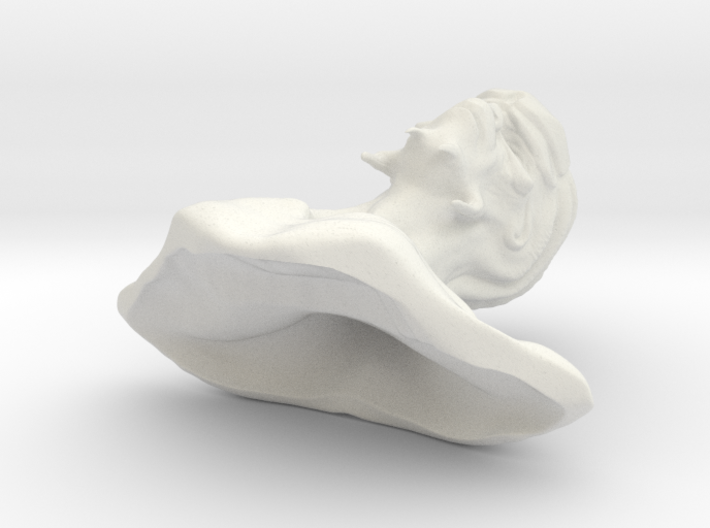 Alien head in 1:6 scale hollow inside 3d printed