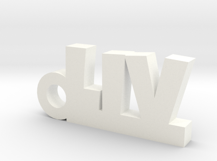 LIV Keychain Lucky 3d printed
