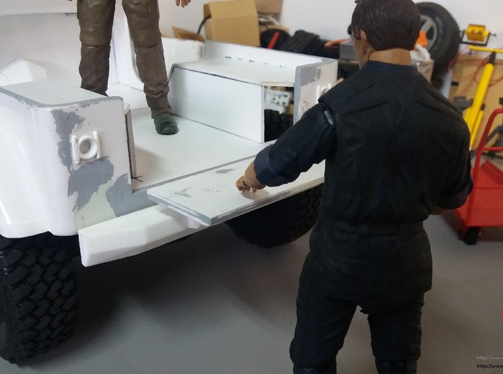 Jeep YJ trunk  hinges (fold down) 3d printed