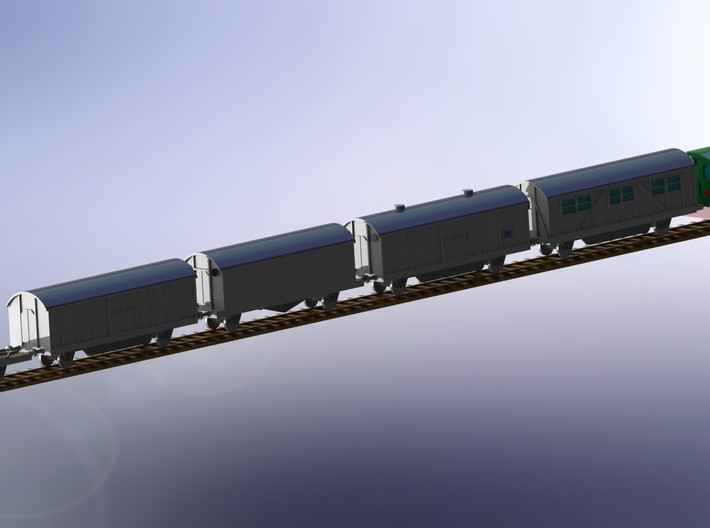 "K5 (E) ""Leopold"" Ammo Train 1/285 6mm 3d printed Add a caption..."