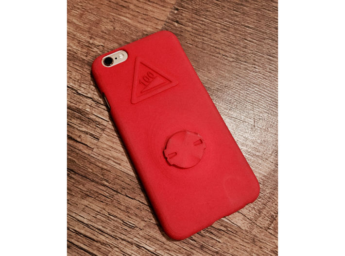 iPhone 6/6S Garmin Mount Case - Hill Climb 3d printed Back face with iPhone installed
