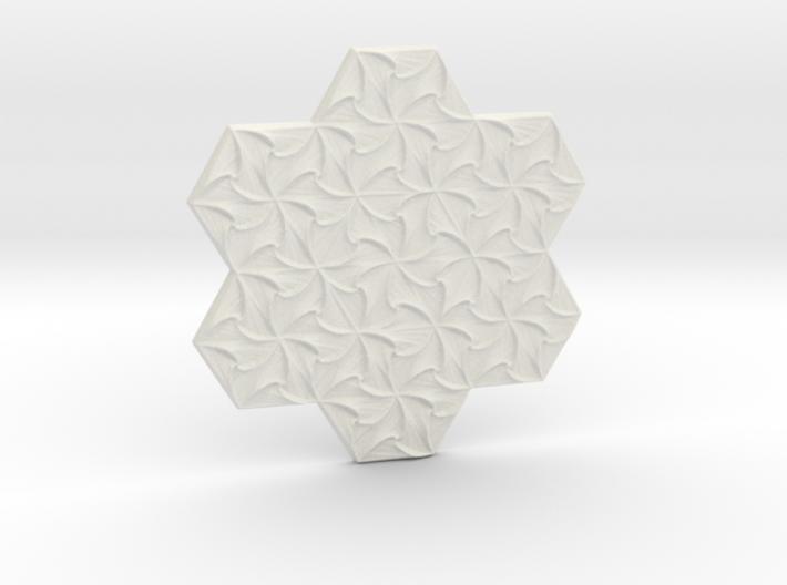 Hexagonal Spirals - Medium-sized Miniature 3d printed