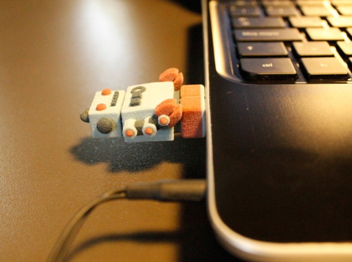 Color Robot USB Pen Drive 3d printed working!