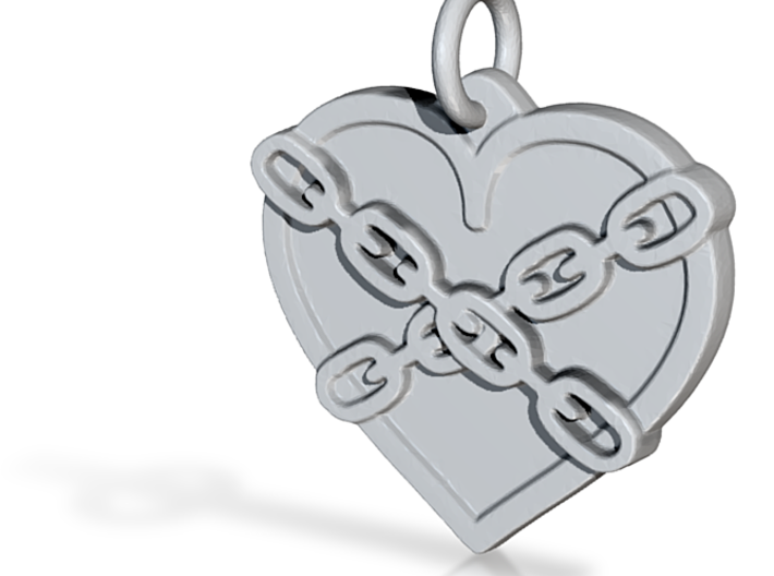 Chained heart 3d printed