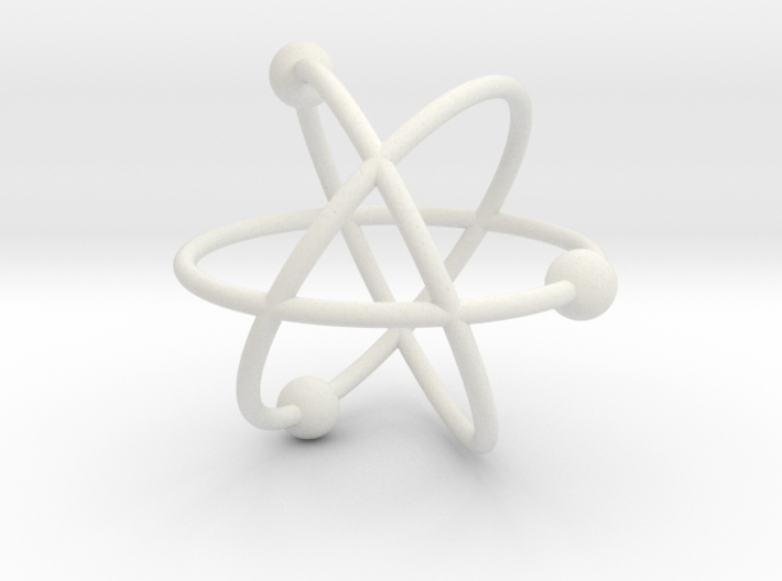 Model of the atom 3d printed
