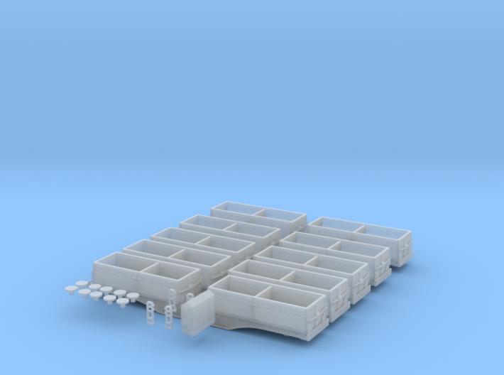 N Gauge MRA Wagon set 3d printed