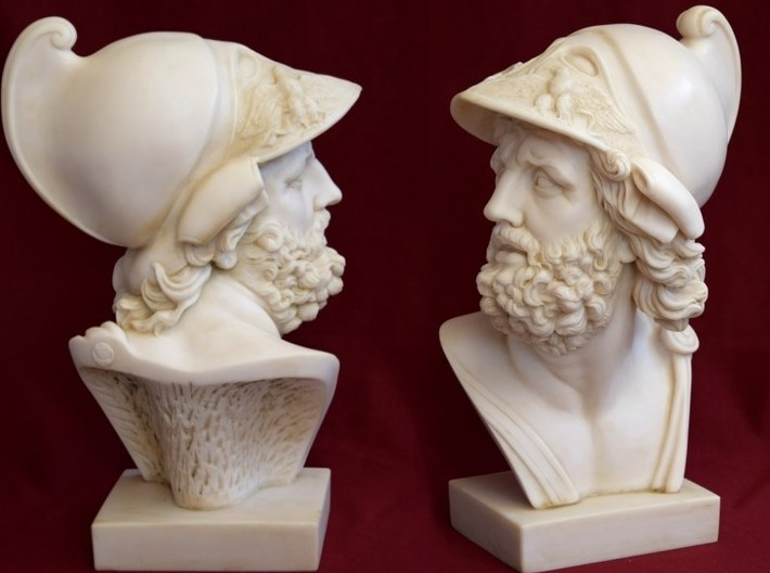 1/9 scale Menelaus king of Sparta bust 3d printed