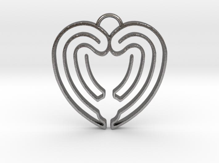 Heart Shape Angel Wings 3d printed