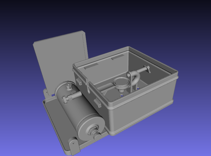 1/6 scale WWII British Camp Stove 3d printed