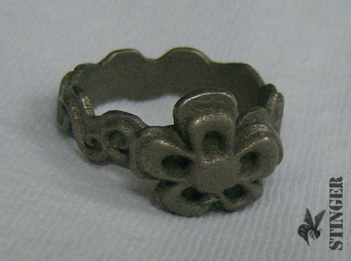 Flower Ring Size 6 1/2 3d printed