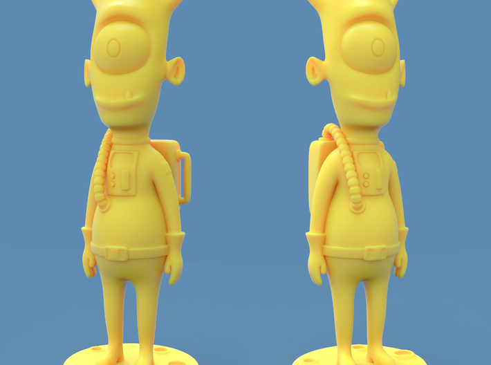 Alien toy figure 3d printed Rendered approximation