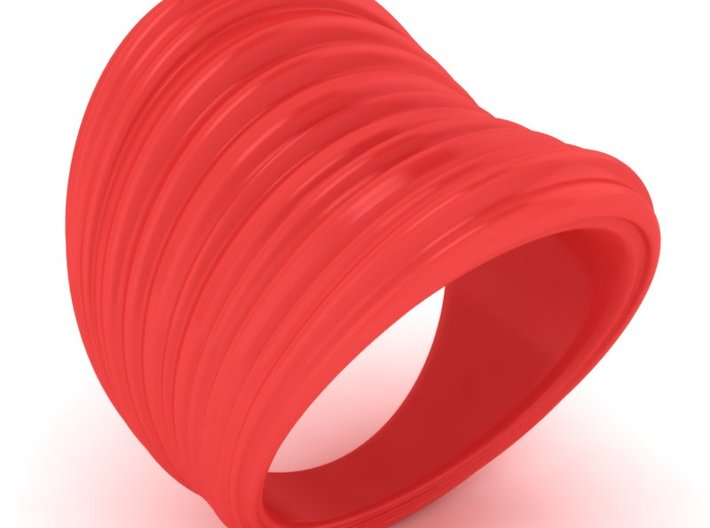 Stretch Texture Wide Ring  3d printed
