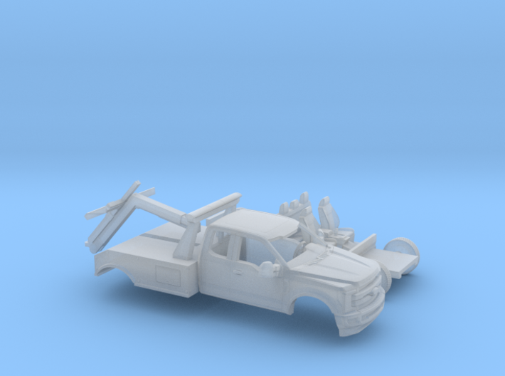 1/87 2017 Ford F-Series Ext.Cab Tow Truck Kit 3d printed