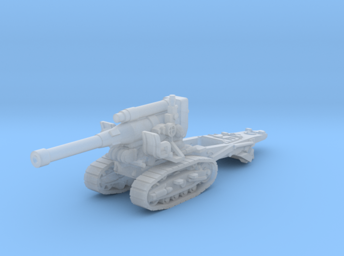 B-4 Soviet howitzer (Russia)-tractor 1/200 3d printed
