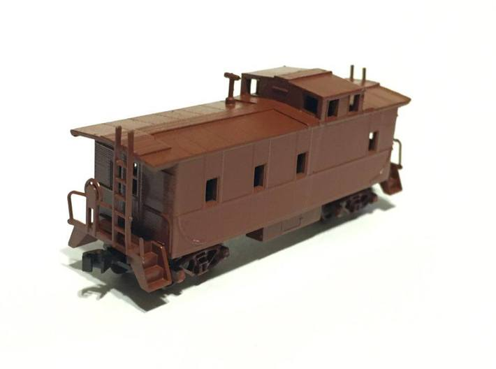 Southern Pacific C-40-3 Caboose modernized N Scale 3d printed Photo is of as built version