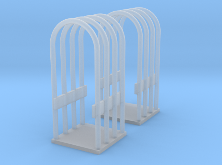1/64 or S Scale Tire Cage-2 3d printed