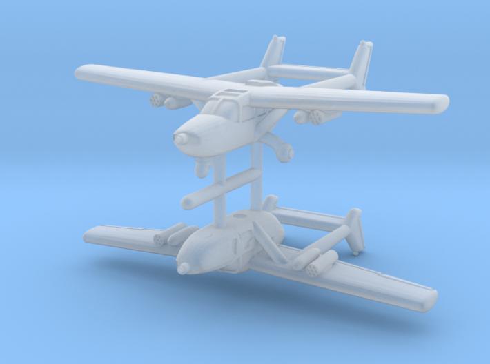 1/600 Cessna O-2 (x2) 3d printed