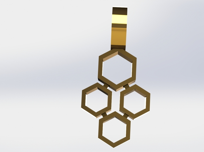 Mineral Pendant 3d printed