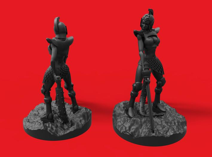 Girl warrior 3d printed