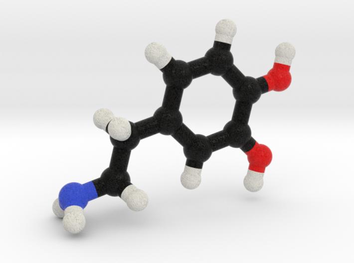Dopamine Molecule. 3d printed