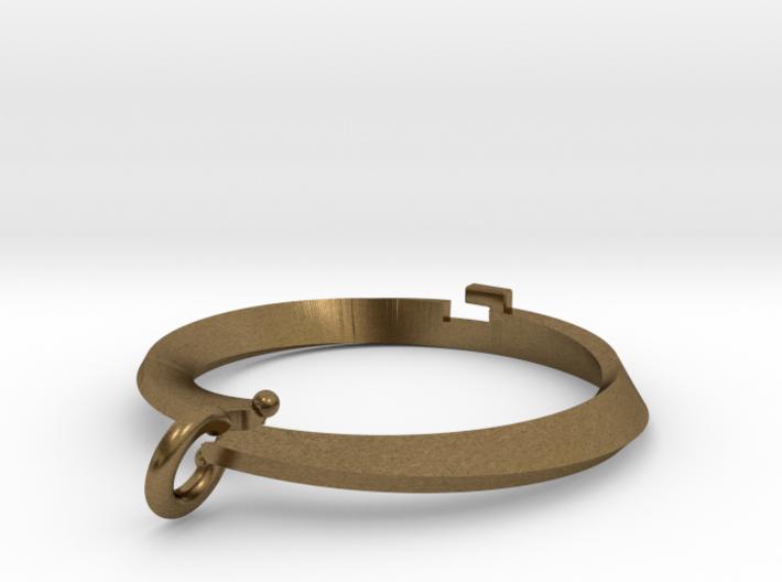 Pendant bi metal  loop Small 3d printed