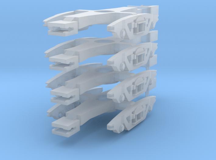 Gloucester FastFreight Bogies 3d printed