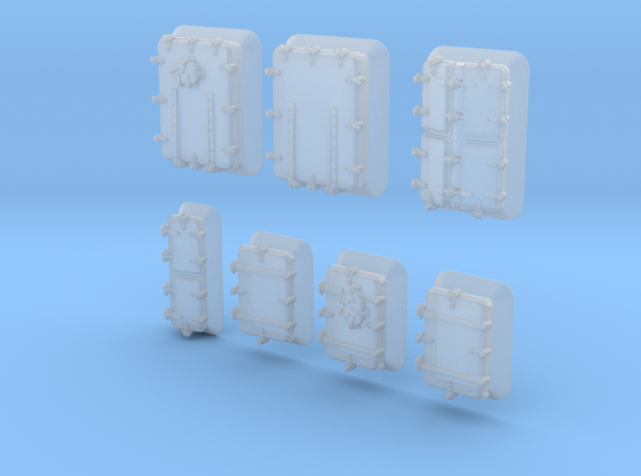 1/400 Royal Navy Assorted Hatches with Blast Plate 3d printed 1/400 Royal Navy Assorted Hatches with Blast Plate