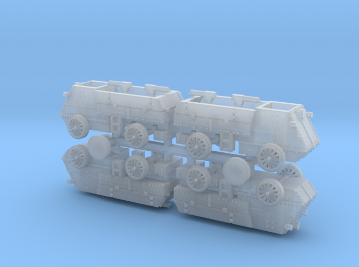 Canadian Autocar Armoured Car WW I 1/285 3d printed