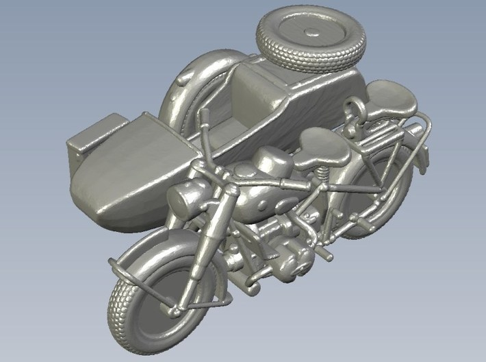 1/87 scale WWII Wehrmacht BMW R75 motorcycles x 2 3d printed