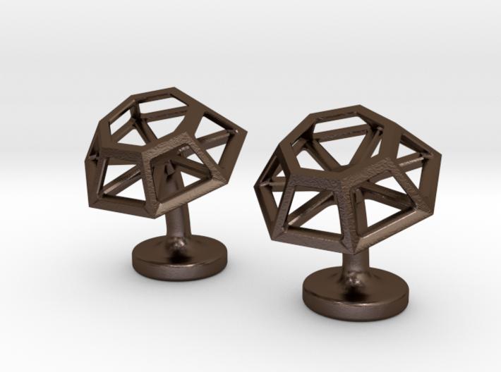 Geometric Cufflinks 3d printed