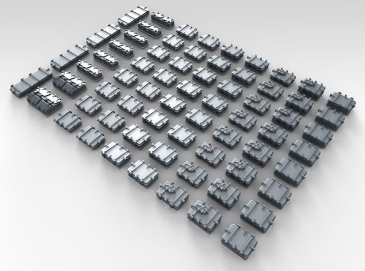 1/400 Royal Navy Assorted Deck Hatches x68 3d printed 3d render showing product detail