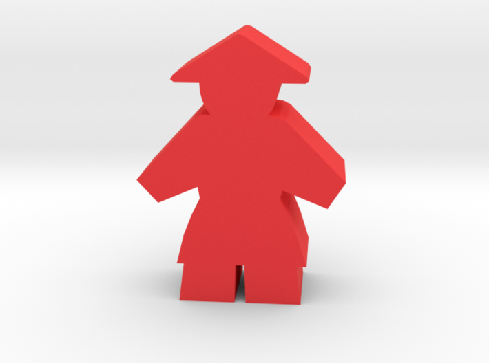 Game Piece, Asian Peasant Worker 3d printed
