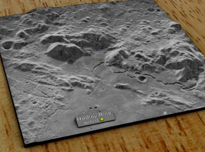 Hadley Rille 15cm 3d printed Overview