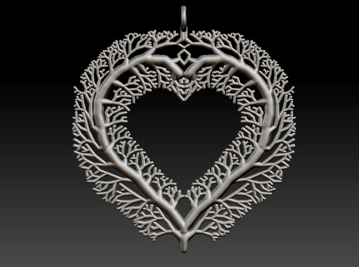 Heart Of The Forest 3d printed Render from modelling software.