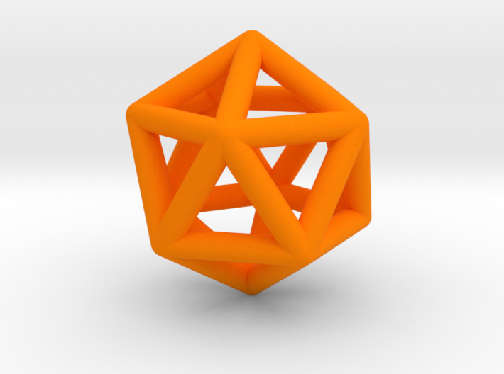 Icosahedron Ornament  3d printed